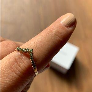 18k gold stacking peridot ring